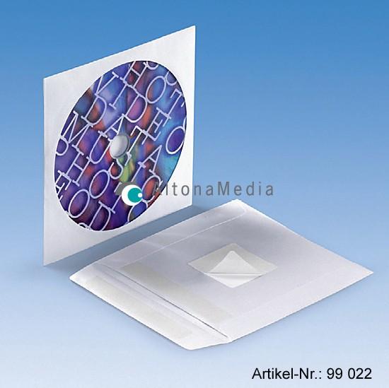 CD-Papiertasche mit Rückensticker