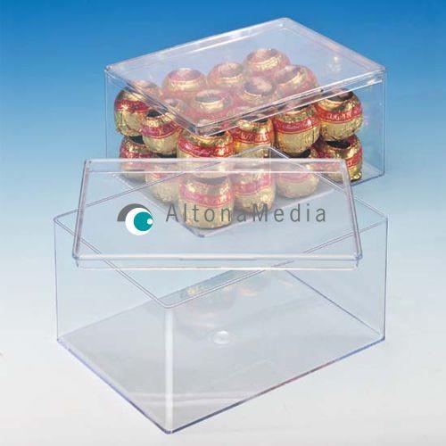 724,4 ml Dose - 130 x 95 x 65 mm Klarsichtdose mit Deckel Großpack