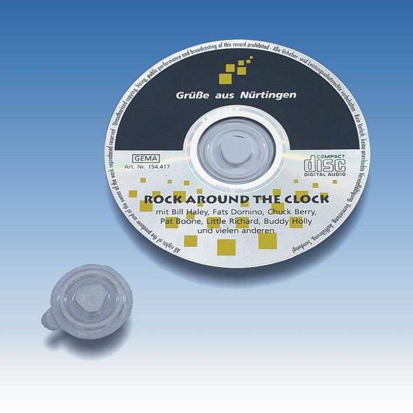 CD-Clips transparent 100er Pack