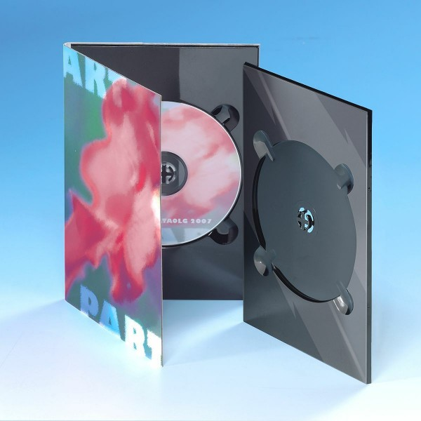 DVD-Tray A5 schwarz glänzend 100-er Pack