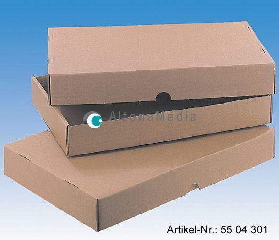 Wellpapp-Stülpdeckelschachtel Normpack extra, 50er Pack A4