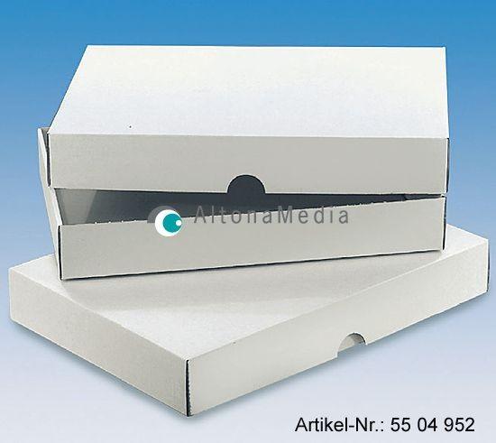 Wellpapp-Stülpverpackung Normpack weiß, 50er Pack