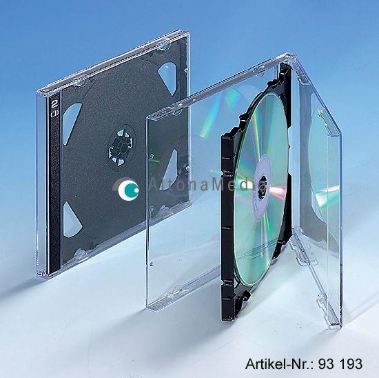CD-Doppelhüllen mit Klapp-Tray schwarz