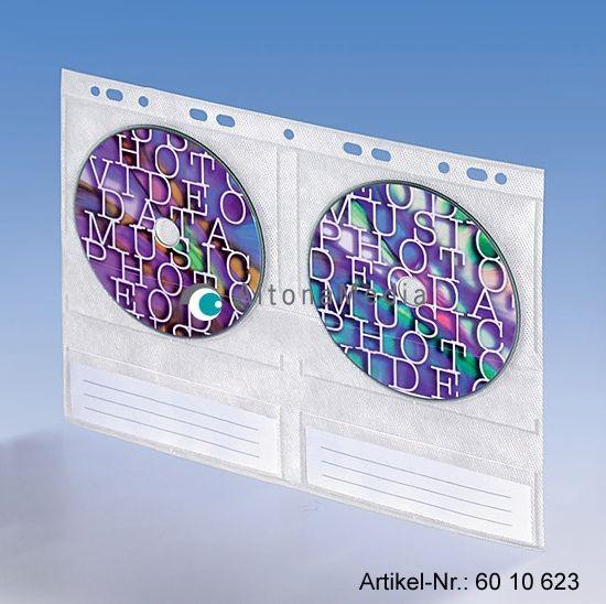 CD-Einhefter für 4 CDs, aus PP mit Vlies