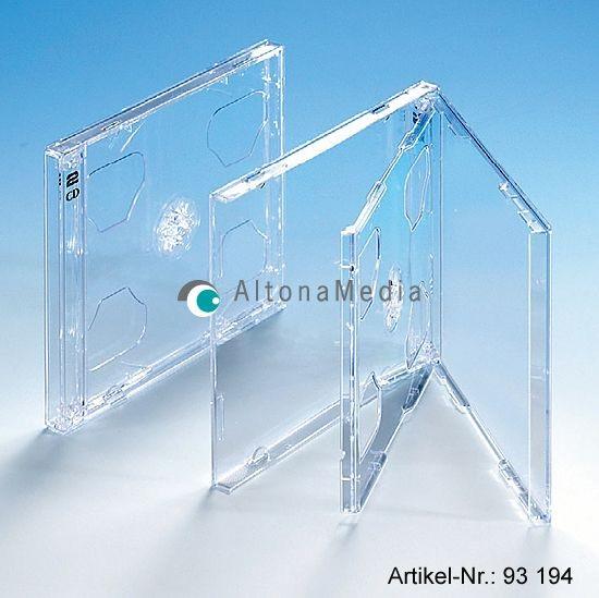 CD-Doppelhüllen mit Klapp-Tray transparent
